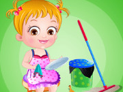 بيبي هازل وقت المساعدة وتنظيف المنزل