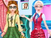 الاخوات المجمدة العودة الي المدرسة