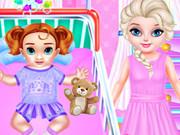 رعاية الطفلة الصغيرة انا اخت السا