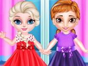 الاخوات الصغيرة فستان الاميرة