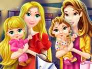 تسوق الأمهات مع الاطفال