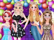 مهرجان البنات- العاب تلبيس ومكياج الاميرات الاربعة