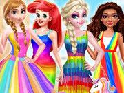 أزياء الأميرة ستايل قوس قزح