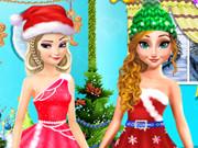 السا وانا في حفل الكريسماس