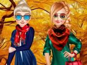 الاخوات سترة الخريف